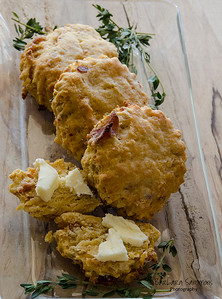 Sweet Potato Biscuits with Bacon and Fresh Thyme