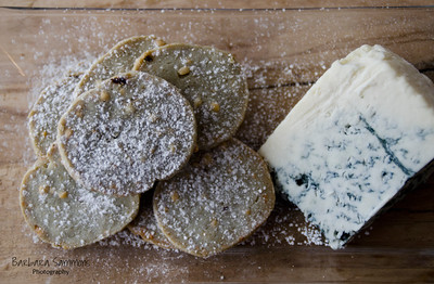 Blue Cheese Shortbread Cookies