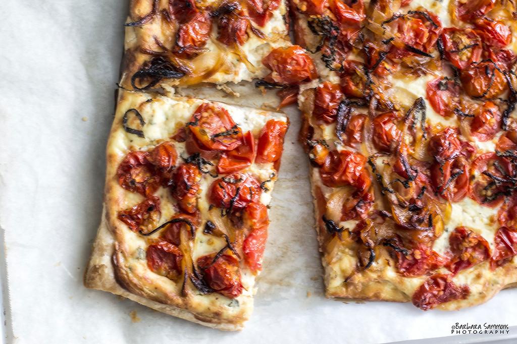 Roasted Tomato and Onion Tart