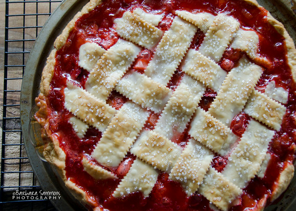 Strawberry-Rhubarb Pie with Lattice Crust