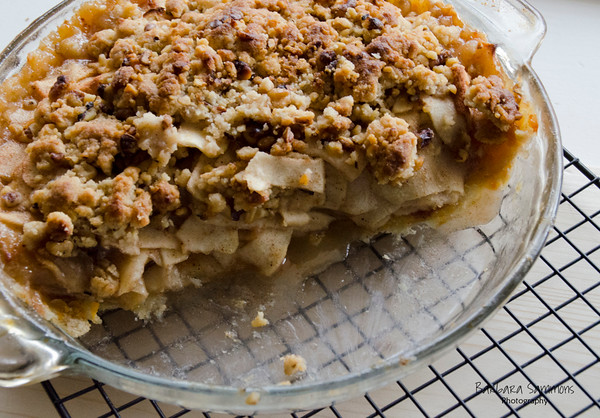 Streusel Crumb Topped Apple Pie with Cheddar Cheese Crust