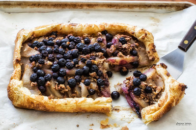 Blueberry, Pear and Pecan Galette