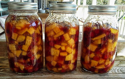 Persimmon-Cranberry Pie Filling