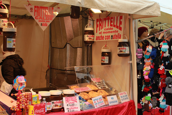 Italy, Verona, Nutella Filled Pastry Stall