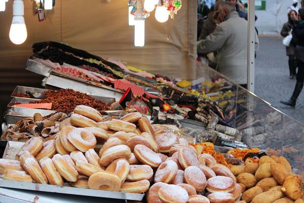 Italy, Verona, Street Vendor Selling Sweets / Snacks Italy, Verona
