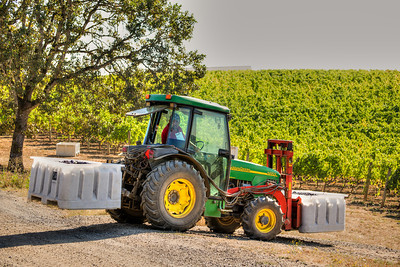 All of the equipment is specifically designed for vineyard operations.