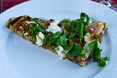 Spicy sausage and fig pizza: Let me tell you, this pizza is to die for.  I've made it several times and it is always more than worth the effort. One of our all time favorites.