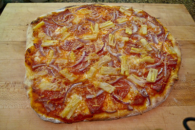 Hawaiian: Add pineapple and some tomato sauce to the Boar's Head pepperoni pizza and you have the Hawaiian