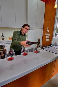 Reid Oliver pours a Winderlea Reserve Pinot Noir