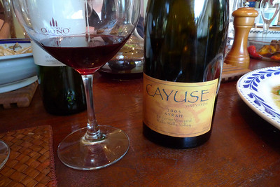 This Cayuse was brought by one of the dinner guests, all wine freaks, and was a real treat. Don't pass up one of these if you can find it.