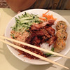 Grilled chicken, Veggie, and Spring Roll Vermicelli Bowl