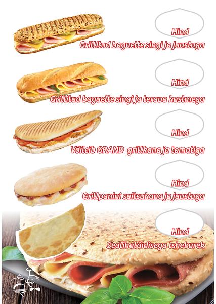 Mantinga grillmenüü 5 võileivale