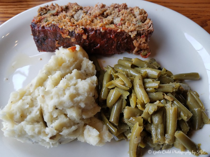 "March 10, 2018<br /> <br /> MY PLATE (Mashed Potatoes, String Beans, and Meat Loaf)<br /> <br /> Cracker Barrel Old Country Store<br /> 170 Pakis Street<br /> Hot Springs, AR 71913<br /> <br /> My Homepage:  <a href=""http://www.GodsChild.SmugMug.com"">http://www.GodsChild.SmugMug.com</a>"