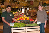Suz with Horacio, the produce manager who will be returning to the Half Moon Bay store.