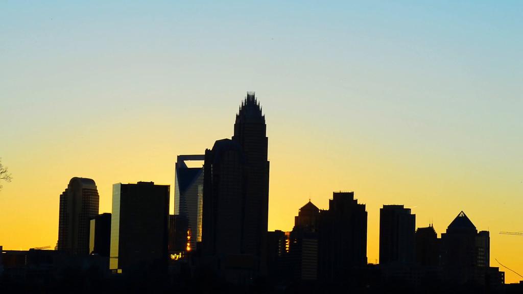 charlotte city skyline north carolina sunset sunrise