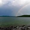 cloudy weather scenes on lake jocassee south carolina