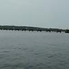 beautiful blue water on lake hartwell south carolina