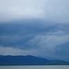 Stormy landscape over lake jocassee south carolina