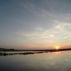sunset on hunting island wetlands in south carolina