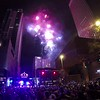 Charlotte NC city skyline on first night new years eve