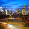 charlotte city skyline north carolina sunset sunrise