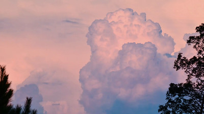 Timelapse of cumulonimbus clouds