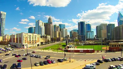charlotte north carolina skyline on a sunny day