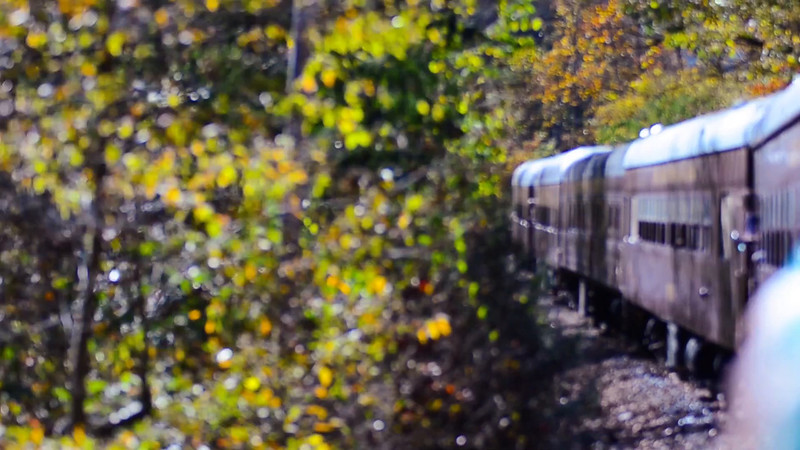train ride scenery throught great smoky mountains