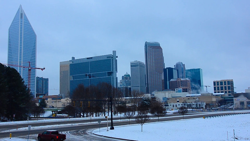 snow covered charlotte north carolina