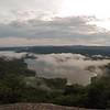 View of Lake Jocassee at sunset, from Jumping Off Rock, South Carolina