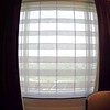 power roll up curtain in hotel room
