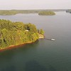 beautiful aerial views at lake hartwell south carolina and georgia