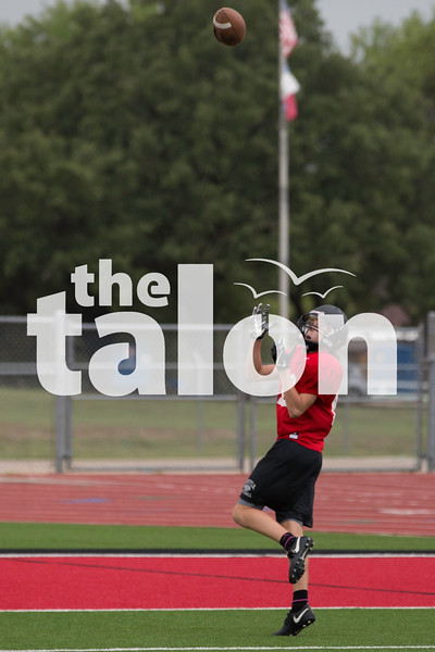 The Eagles football team practices during 2 A Days on the AHS Field in Argyle, Texas, on August 14, 2018. (Andrew Fritz / The Talon News)