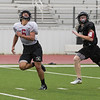 The Eagles football team practices during 2-A-Days on the AHS field in Argyle, Texas, on August 11, 2018. (Andrew Fritz / The Talon News)