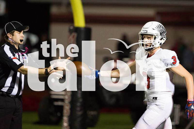 The Argyle Eagles Football team plays against the Melissa Cardinals on the Melissa ISD Field in Melissa, Texas, on October 26, 2018. (Andrew Fritz / The Talon News)