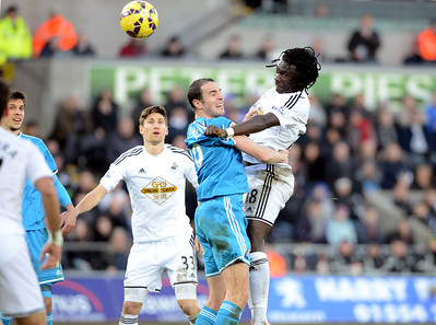 SPORT.... SWANS V SUNDERLAND.... SATURDAY 7th FEBRUARY 2015 Action from the Swans game against Sunderland at the Liberty. Pictured - Bafetimbi Gomis