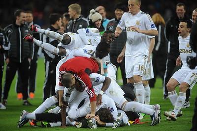 Swansea City celebrations.