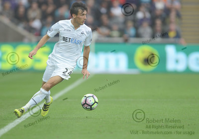 Swansea, Wales, UK SATURDAY 24th SEPTEMBER 2016 LIBERTY STADIUM SWANSEA CITY v MANCHESTER CITY  Swansea City take on Manchester City at the Libert Stadium in the Premier League.