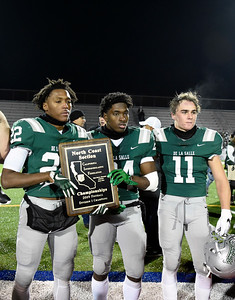 BLANK BLANK in the ? quarter of their North Coast Section Division I football championship game at Dublin High School in Dublin, Calif., on Friday, Nov. 29, 2019. De La Salle defeated Pittsburg 49-7 to win it's 28th consecutive NCS title. (Photo by Jose Santo Fajardo)