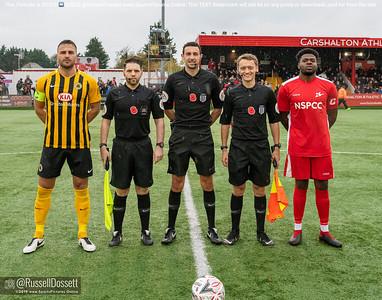 Carshalton Athletic vs Boston United FA cup 1st Round