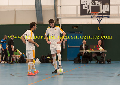 Alberto Morcillo and Javier Tobajas LONDON HELVECIA v CAMBRIDGE UNITED FUTSAL. FA National Super League Play-Off. 2nd Leg Quarter-Final. Score Centre. 21.05.2017