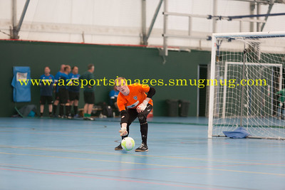 Jonny Sim during LONDON HELVECIA v CAMBRIDGE UNITED FUTSAL. FA National Super League Play-Off. 2nd Leg Quarter-Final. Score Centre. 21.05.2017