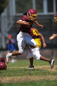 Menlo Atherton Varsity Football, Scrimmage, 2012-08-18