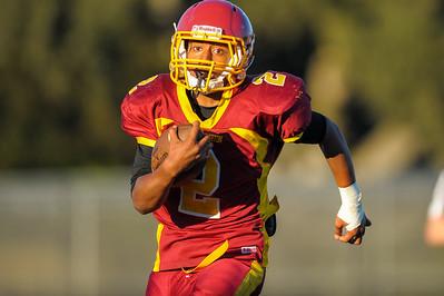 Menlo Atherton JV  Football vs. Archbishop Riordan High School 2015-09-18