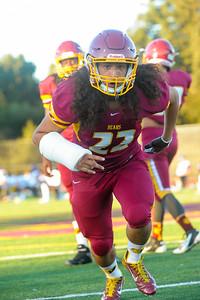Menlo Atherton Varsity  Football vs. Archbishop Riordan High School 2015-09-18