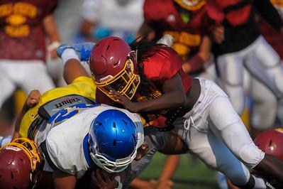 Menlo Atherton Varsity Football Scrimmage against Junípero Serra High School, 2016-08-19