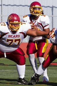 Menlo Atherton Bears Varsity vs.San Mateo Bearcats 2010-10-01