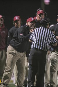 SHP Coach flips off Referee at the Menlo Atherton Varsity Football vs. Sacred Heart Prep,2013-10-18