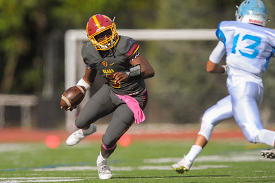 Menlo-Atherton's Aajon Johnson ran 159 yards against Hillsdale.