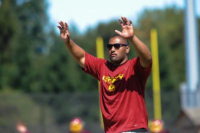 Menlo Atherton JV Football, Scrimmage, 2012-08-18